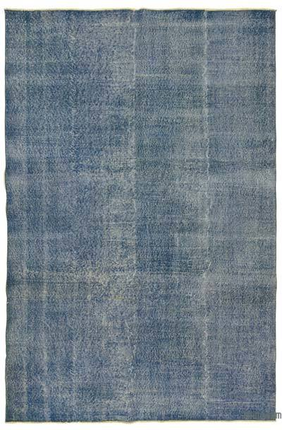 "Over-dyed Turkish Vintage Rug - 6'4"" x 9'9"" (76 in. x 117 in.)"