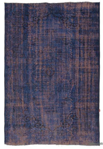 """Over-dyed Turkish Vintage Rug - 6' 3"""" x 8' 10"""" (75 in. x 106 in.)"""