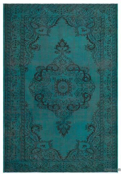 """Over-dyed Turkish Vintage Rug - 5' 10"""" x 8' 7"""" (70 in. x 103 in.)"""