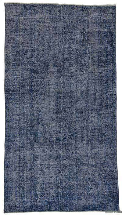 "Over-dyed Turkish Vintage Rug - 5' 5"" x 10'  (65 in. x 120 in.)"