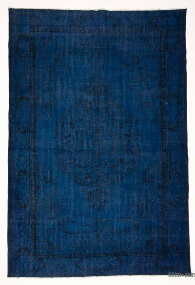 Boyalı El Dokuma Vintage Halı - 190 cm x 281 cm
