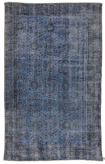 """Blue Over-dyed Turkish Vintage Rug - 5' 3"""" x 8' 8"""" (63 in. x 104 in.)"""