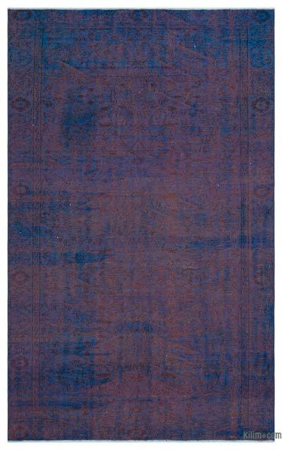 """Over-dyed Turkish Vintage Rug - 5'5"""" x 8'10"""" (65 in. x 106 in.)"""