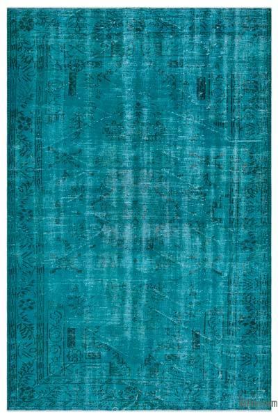 Boyalı El Dokuma Vintage Halı - 173 cm x 265 cm