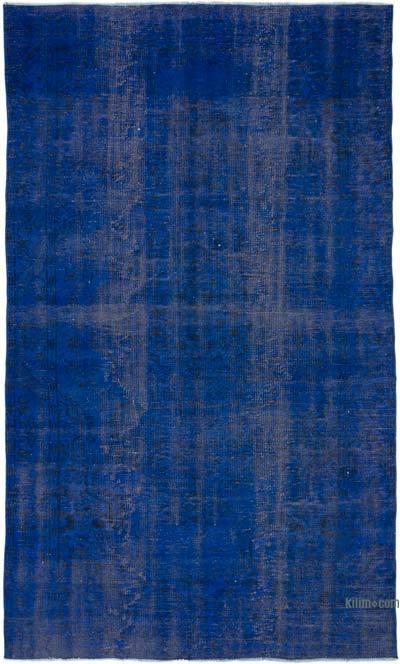 Boyalı El Dokuma Vintage Halı - 170 cm x 287 cm