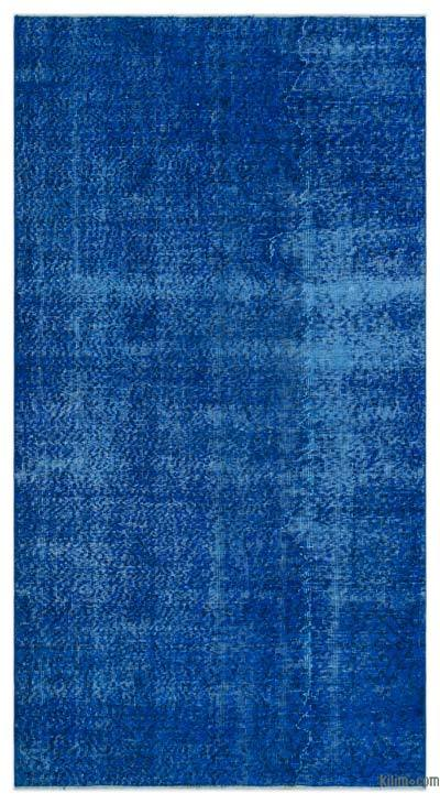 """Over-dyed Turkish Vintage Rug - 4'4"""" x 8'1"""" (52 in. x 97 in.)"""