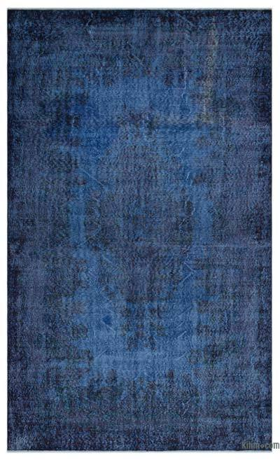 """Over-dyed Turkish Vintage Rug - 5'9"""" x 9'5"""" (69 in. x 113 in.)"""