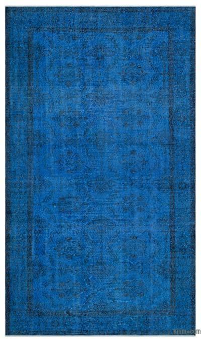 Alfombra Turca Vintage Sobre-teñida - 162 cm x 280 cm