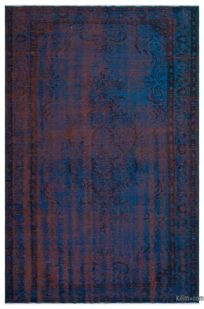 Boyalı El Dokuma Vintage Halı - 180 cm x 286 cm