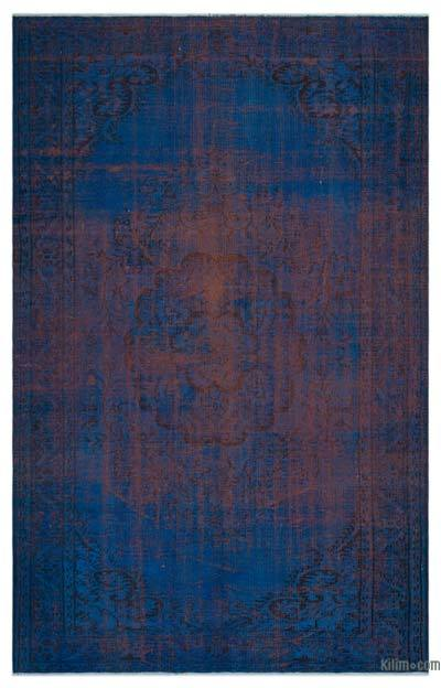 """Over-dyed Turkish Vintage Rug - 5'11"""" x 9'1"""" (71 in. x 109 in.)"""