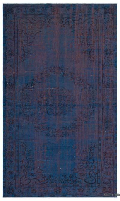 Boyalı El Dokuma Vintage Halı - 156 cm x 260 cm