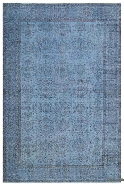 "Over-dyed Turkish Vintage Rug - 6'11"" x 10'4"" (83 in. x 124 in.)"