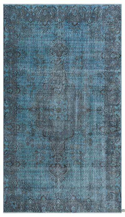 """Over-dyed Turkish Vintage Rug - 4'11"""" x 8'7"""" (59 in. x 103 in.)"""
