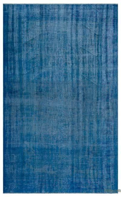 Boyalı El Dokuma Vintage Halı - 185 cm x 299 cm