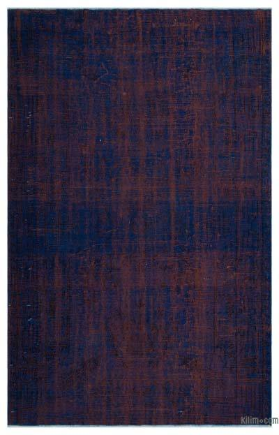 """Over-dyed Turkish Vintage Rug - 5' 9"""" x 9' 5"""" (69 in. x 113 in.)"""