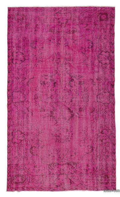 """Over-dyed Turkish Vintage Rug - 4' 11"""" x 8' 3"""" (59 in. x 99 in.)"""