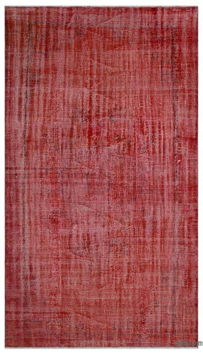 """Over-dyed Turkish Vintage Rug - 5'3"""" x 9'3"""" (63 in. x 111 in.)"""