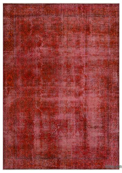 """Over-dyed Turkish Vintage Rug - 7' 2"""" x 10' 2"""" (86 in. x 122 in.)"""