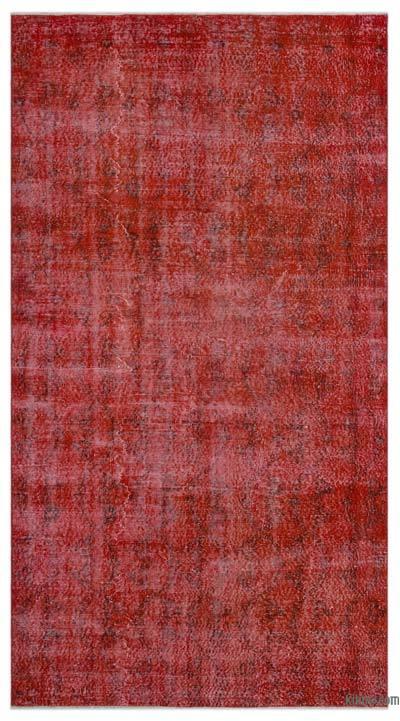 Boyalı El Dokuma Vintage Halı - 148 cm x 278 cm