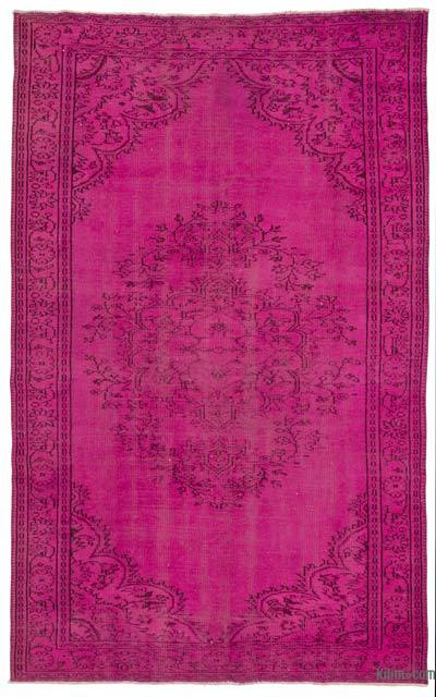 "Over-dyed Turkish Vintage Rug - 6' x 9'10"" (72 in. x 118 in.)"