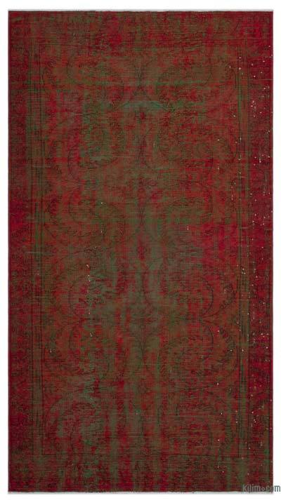 """Over-dyed Turkish Vintage Rug - 5' 1"""" x 9' 5"""" (61 in. x 113 in.)"""