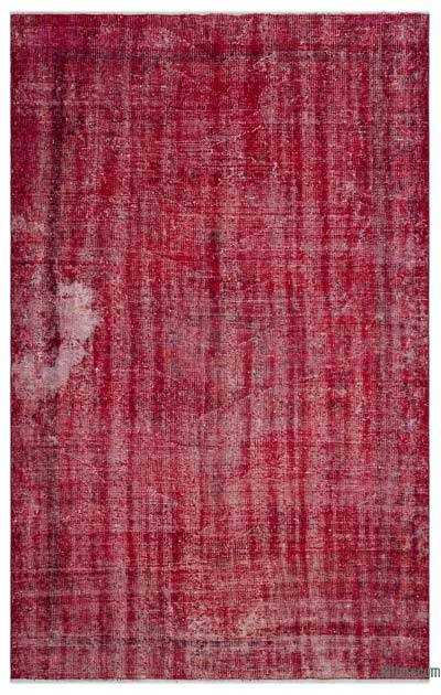 """Over-dyed Turkish Vintage Rug - 5' 2"""" x 8' 5"""" (62 in. x 101 in.)"""