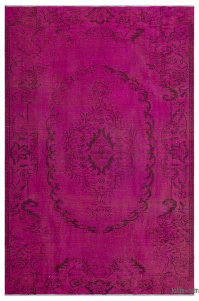 Alfombra Turca Vintage Sobre-teñida - 164 cm x 251 cm