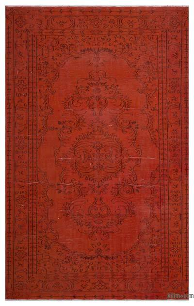 "Over-dyed Turkish Vintage Rug - 6'1"" x 9'8"" (73 in. x 116 in.)"