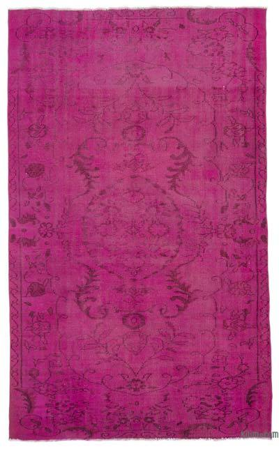 "Over-dyed Turkish Vintage Rug - 5' 7"" x 9' 3"" (67 in. x 111 in.)"