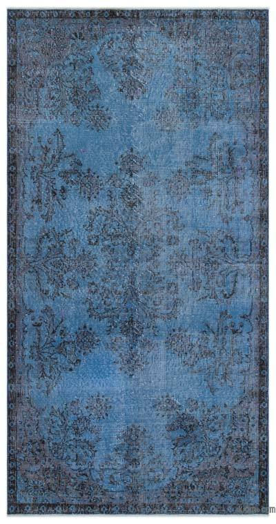 "Over-dyed Turkish Vintage Rug - 3' 10"" x 7' 7"" (46 in. x 91 in.)"