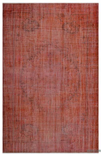 Boyalı El Dokuma Vintage Halı - 197 cm x 308 cm