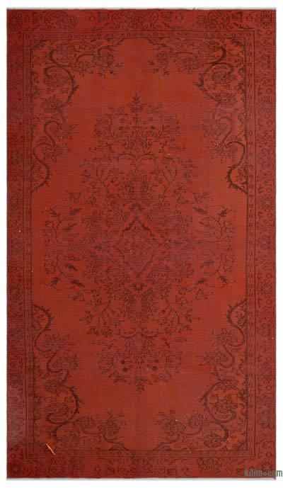 Alfombra Turca Vintage Sobre-teñida - 160 cm x 280 cm
