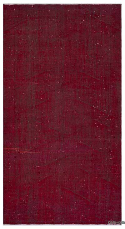"""Over-dyed Turkish Vintage Rug - 5' 2"""" x 9' 4"""" (62 in. x 112 in.)"""