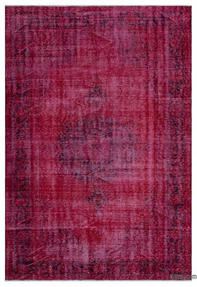 """Over-dyed Turkish Vintage Rug - 5'11"""" x 8'10"""" (71 in. x 106 in.)"""