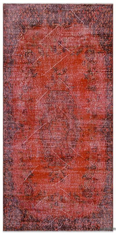 "Over-dyed Turkish Vintage Rug - 3'7"" x 7'3"" (43 in. x 87 in.)"