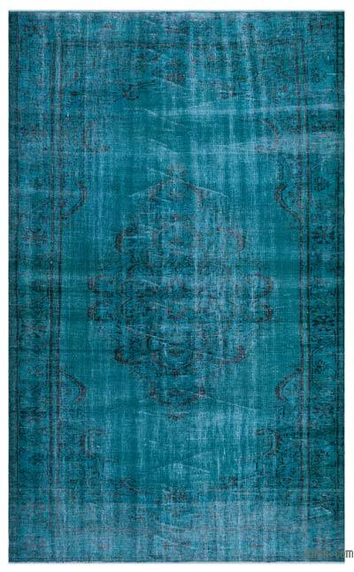 """Over-dyed Turkish Vintage Rug - 6' x 9'10"""" (72 in. x 118 in.)"""