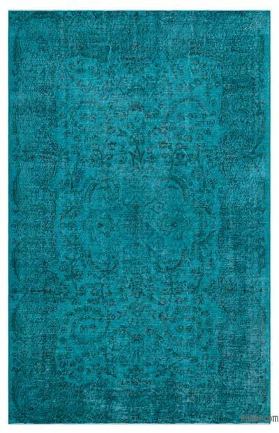 """Over-dyed Turkish Vintage Rug - 5' 9"""" x 9' 2"""" (69 in. x 110 in.)"""