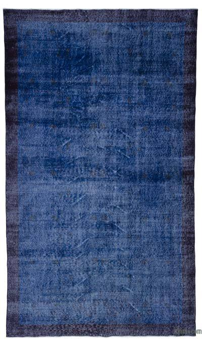 """Over-dyed Turkish Vintage Rug - 5' 8"""" x 9' 8"""" (68 in. x 116 in.)"""