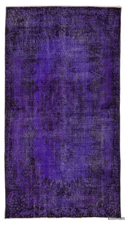 "Over-dyed Turkish Vintage Rug - 3'10"" x 6'11"" (46 in. x 83 in.)"