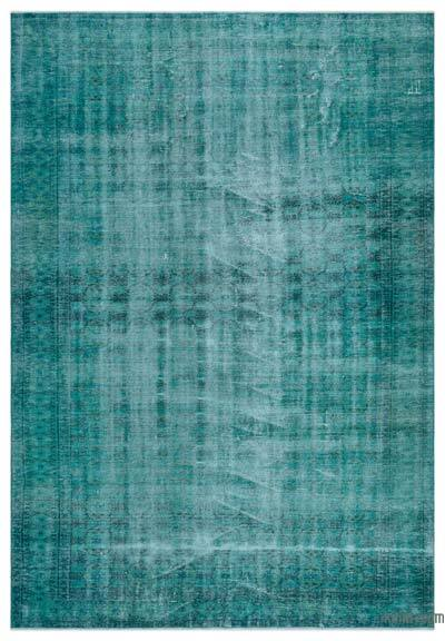 """Over-dyed Turkish Vintage Rug - 6'7"""" x 9'3"""" (79 in. x 111 in.)"""