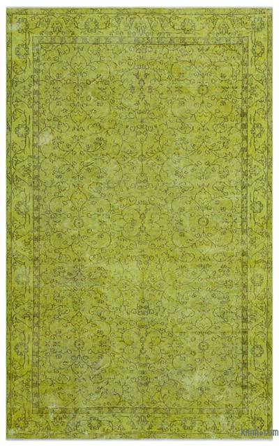 """Over-dyed Turkish Vintage Rug - 5' 6"""" x 8' 9"""" (66 in. x 105 in.)"""
