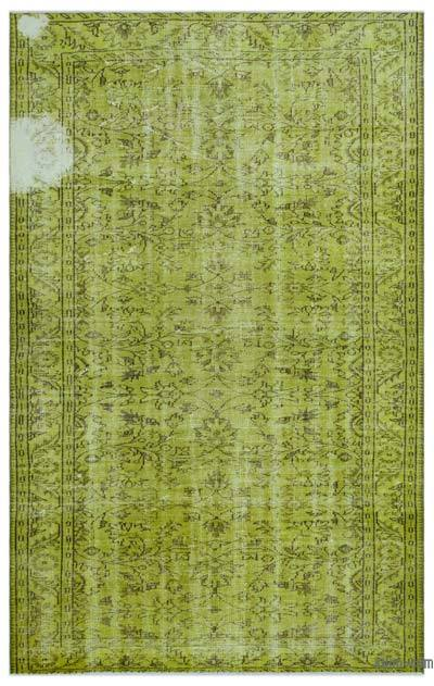 """Over-dyed Turkish Vintage Rug - 5' 11"""" x 9' 6"""" (71 in. x 114 in.)"""