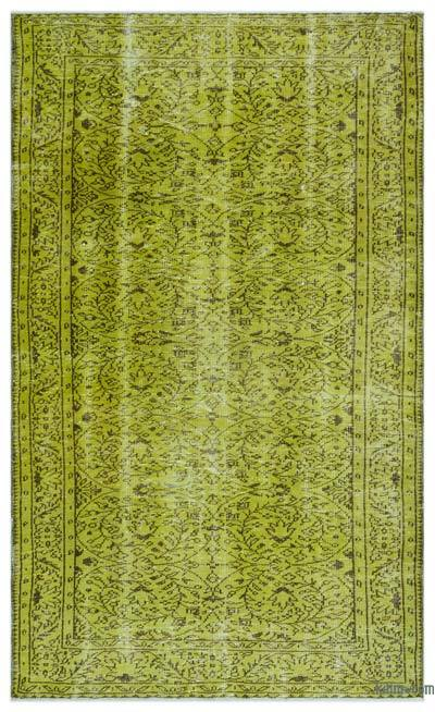 Over-dyed Turkish Vintage Rug - 5'  x 8'  (60 in. x 96 in.)