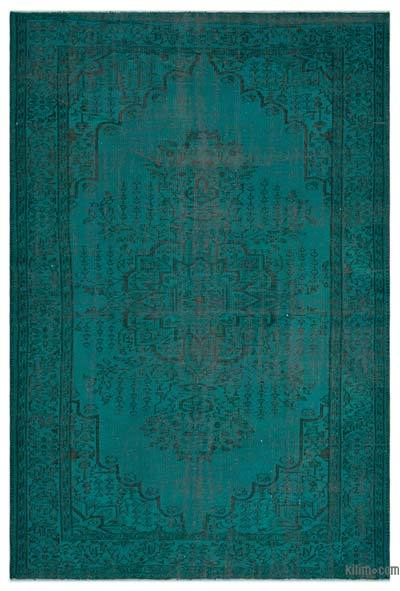 "Over-dyed Turkish Vintage Rug - 6'4"" x 9'2"" (76 in. x 110 in.)"