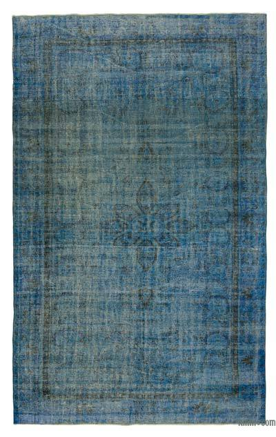 "Over-dyed Turkish Vintage Rug - 6' 1"" x 9' 7"" (73 in. x 115 in.)"