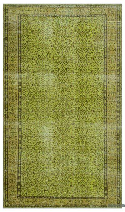 """Over-dyed Turkish Vintage Rug - 5' 4"""" x 9' 1"""" (64 in. x 109 in.)"""
