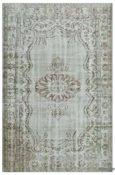 """Over-dyed Turkish Vintage Rug - 5' 9"""" x 8' 11"""" (69 in. x 107 in.)"""
