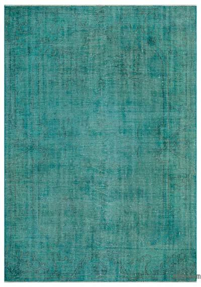 "Over-dyed Turkish Vintage Rug - 5' 8"" x 8'  (68 in. x 96 in.)"