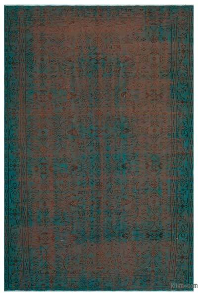 "Over-dyed Turkish Vintage Rug - 6' 2"" x 9' 5"" (74 in. x 113 in.)"