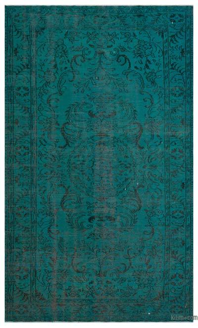"Over-dyed Turkish Vintage Rug - 5'10"" x 9'9"" (70 in. x 117 in.)"